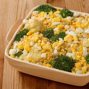 Broccoli and Cauliflower Polonaise
