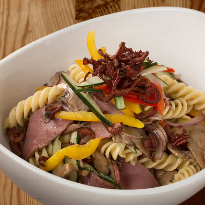 Fusilli Pasta with Smoked Duck Breast Salad