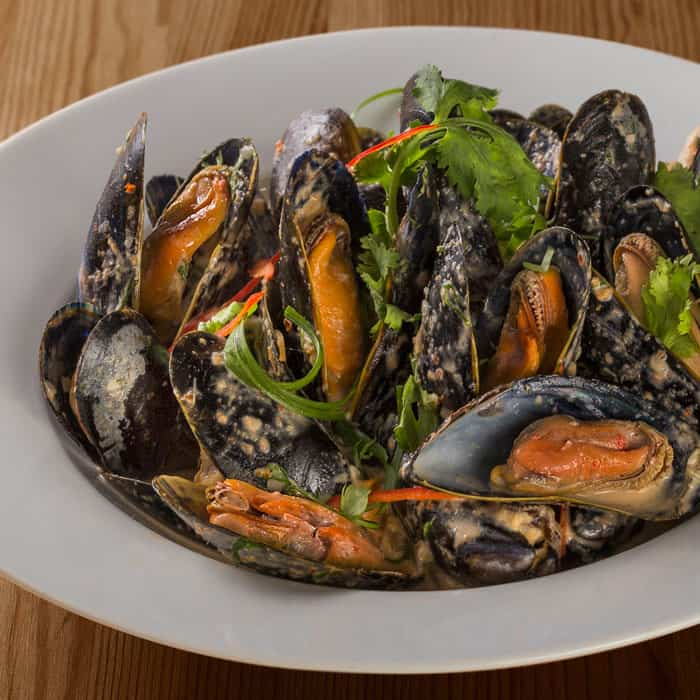 Steamed Mussels in Halia's Ginger Flower Coconut Broth