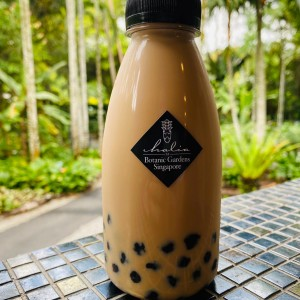 Home Brew Milk Tea with Brown Sugar Sago Pearls