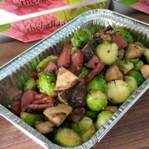 Festive Feasts - Brussels Sprouts, Smoked Duck Breast and Shiitake Mushroom