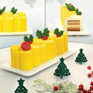 Festive Feasts - Tropical Fruit White Chocolate Log Cake