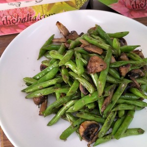 Festive Feasts - Sautéed French Bean with Mushroom and Garlic Butter